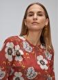 People By Fabrika Yakada Düğme Detaylı Bağlamalı Elbise Kiremit